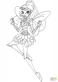 winx club miele coloring page free printable coloring pages