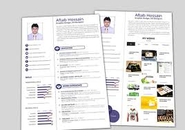 designer resume templates 2 15 free creative resume templates for photoshop and illustrator