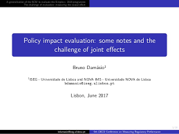 Challenge Effects Policy Impact Evaluation Some Notes And The Challenge Of Joint Effec