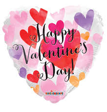 valentines day balloons wholesale 18 happy s day watercolor hearts mylar foil balloon