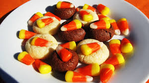 candy corn sugar cookies peanut butter and peppers