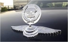 cadillac logo nvog chrome bentley style ornament no drill