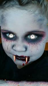 child vampire makeup idea for halloween crafts and sewing
