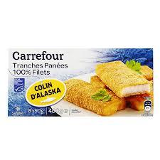 colin cuisine carrefour tranches panees 100present filets colin d alaska 400g