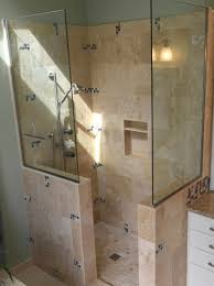 doorless shower ideas bathroom walk in shower designs home design