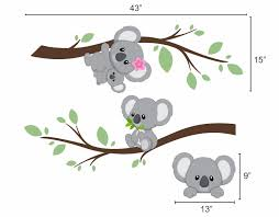 koala bear wall decals bluedesigndecals com blue design co llc