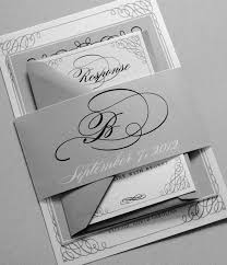 black and white wedding invitations black and gray wedding