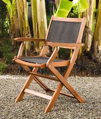 Patio Folding Chair Folding Patio Chairs Wood Armchairs Mesh Seat Back Gardeners