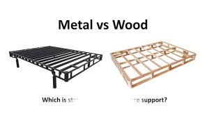 metal vs wood video bed foundation youtube