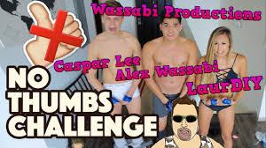 Challenge Wassabi Productions Wassabi Productions No Thumbs Challenge Ft Casper Laurdiy