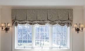 Balloon Shade Curtains Furniture Windows Treatment With Grey Luxury Fabric Balloon