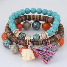 beaded bracelet with pearls images The stunning blossom bracelet wooden beads charm bracelet set jpg