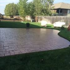Design A Patio Stamped Concrete Patio With Fire Pit Stamped Patio Deco Crete