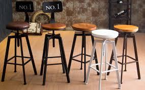 bar stools that swivel vintage retro industrial look rustic swivel kitchen bar stool cafe