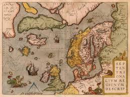 map of n europe antique map of atlantic by ortelius a sanderus