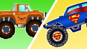 monster truck race videos stunts monster truck videos please chase and race video for kids