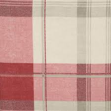 Pink Tartan Curtains Balmoral Check Eyelet Curtains In Ruby Uk Delivery Terrys Fabrics