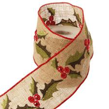 raz 4 inch jute ribbon with design and trim shelley b