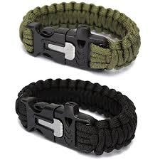 fire cord bracelet images Emergency paracord survival bracelet with fire starter knife jpg