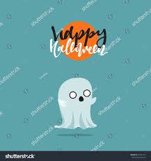 happy halloween funny picture halloween funny cartoon characters ghost doodle stock vector