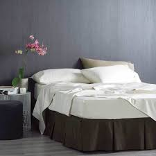 Chocolate Bed Linen - box pleat valance bed 200 thread count percale box valance white