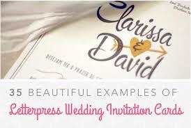 Design Of Marriage Invitation Card Wedding Invitation Examples 25 Letterpress Cards