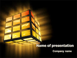 light cube powerpoint template backgrounds 07157
