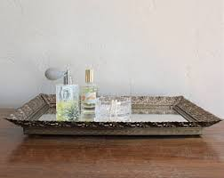 Gold Coffee Table Tray by Vintage Gold Tray Etsy