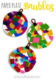 paper plate tissue paper ornament project