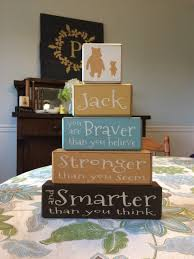 Classic Pooh Baby Shower Winnie The Pooh Classic Pooh Quote Personalized Baby Sign Blocks