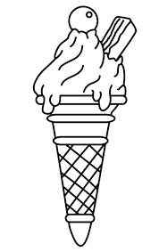coloring pages ice cream cone cute ice cream cone drawing at getdrawings com free for personal
