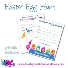 printable easter egg hunt invitations