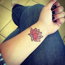 simple lotus flower tattoo design idea on wrist 2 golfian com