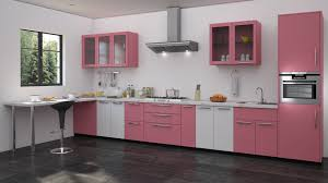 pink kitchen walls rectangular elegant duco glosy island cream