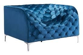 zuo modern providence sofa zuo modern providence arm chair blue velvet 900279 modern