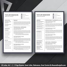 Resume Template With Cover Letter Resume Template Cv Template Cover Letter For Ms Word