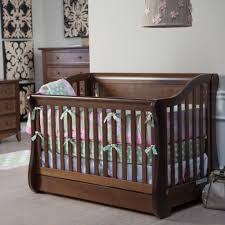 Mayfair Convertible Crib Sleigh Baby Cribs
