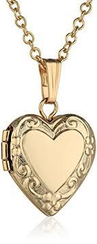 childrens locket children s 14k yellow gold filled heart locket pendant
