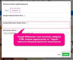 siteme google webmaster tools kodu nasıl eklerim hosting com