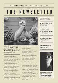 off white vintage newspaper style newsletter templates by canva