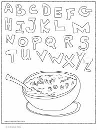 alphabet soup coloring page crayon action coloring pages
