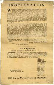 thanksgiving day dates state library of massachusetts thanksgiving proclamations at the