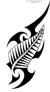 tribal designs maori tribal design with zealand silver fern