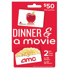 dinner gift cards 50 dinner and a gift card pack bj s wholesale club