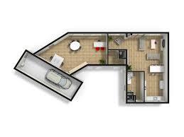 plattegronden 3d top view floorplannerij