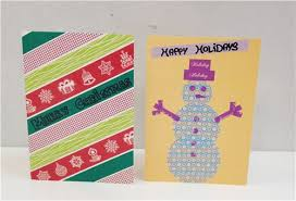 christmas crafts washi tape christmas cards modes blog