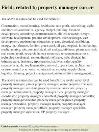 Property Management Resume Resume Property Sales Manager Resume Sample Fields Related To
