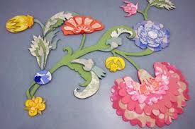 old woolen blankets turned into blooming floral carpets