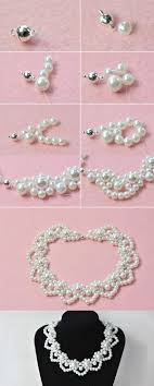 white pearl beaded necklace images 166 best chokers images choker necklaces jewerly jpg