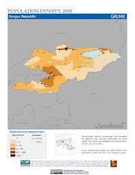 Kyrgyzstan Map Maps Global Rural Urban Mapping Project Grump V1 Sedac